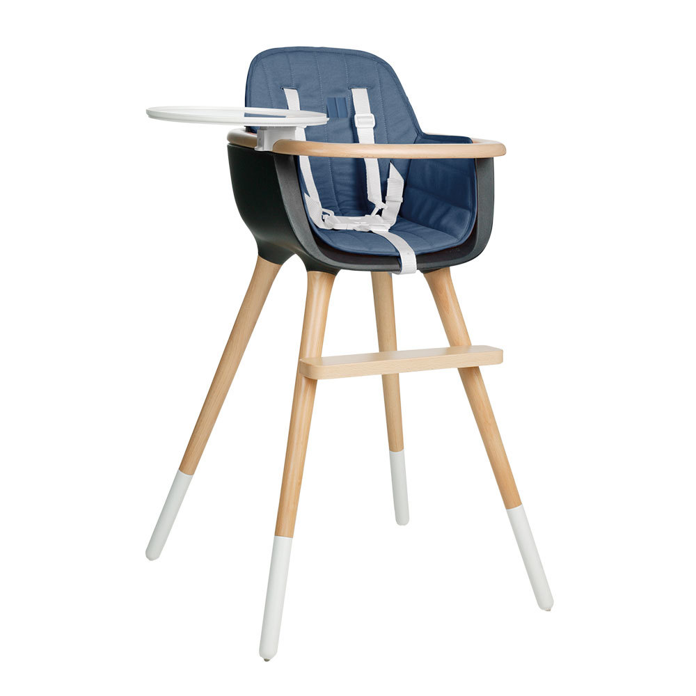 coussin chaise haute ovo bleu bleu micuna design b b. Black Bedroom Furniture Sets. Home Design Ideas