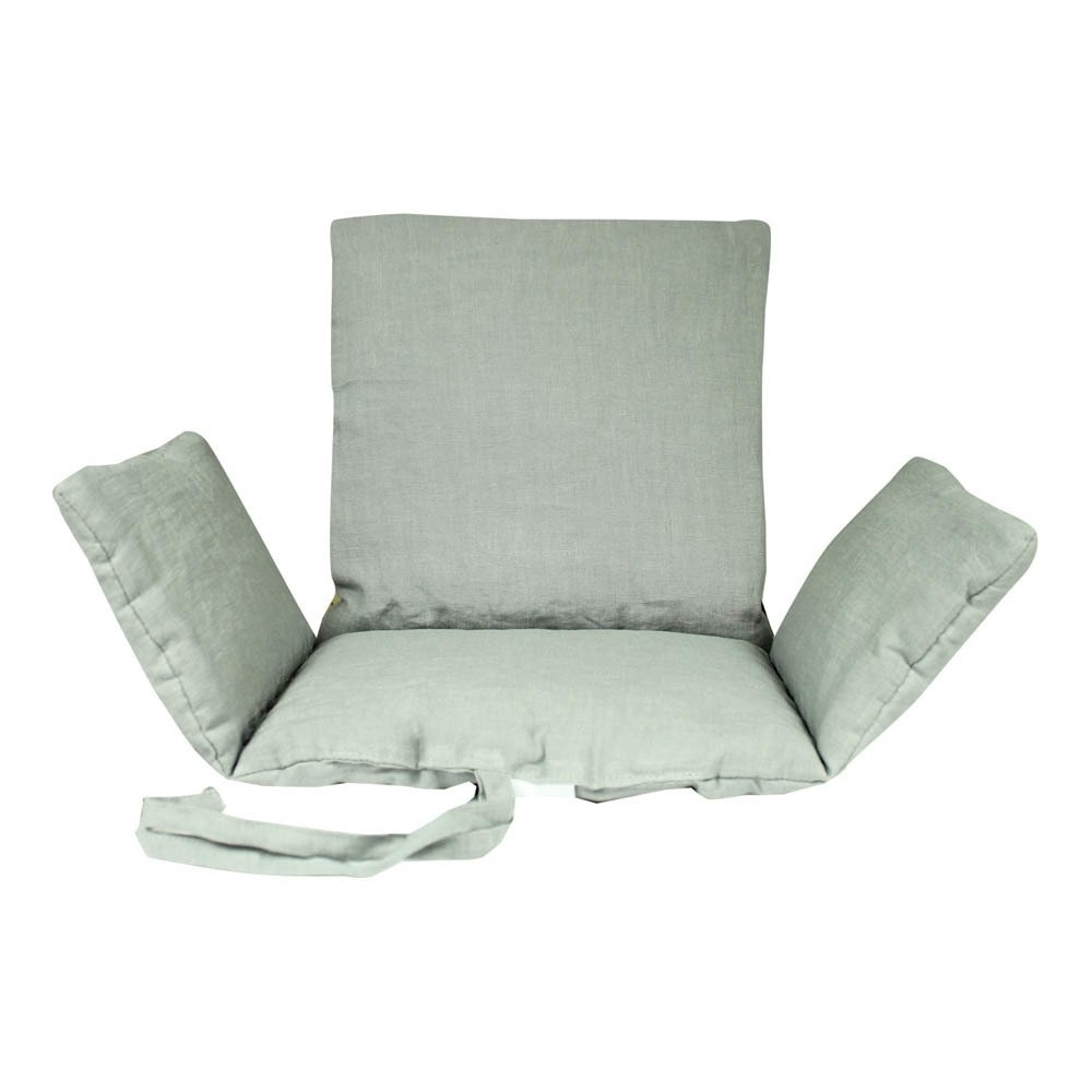 Assise chaise haute gris clair lab la petite collection for Assise chaise haute