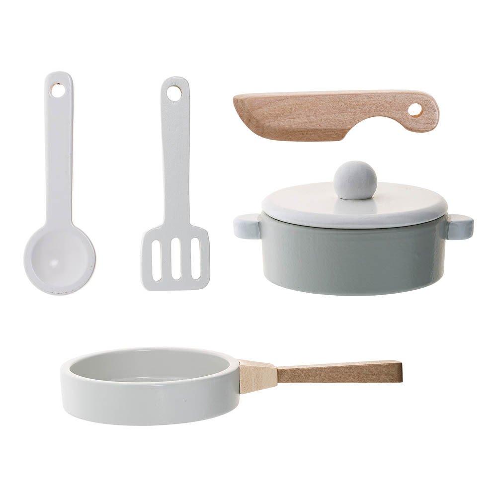 Set de casseroles et ustensiles pour la cuisine Blanc