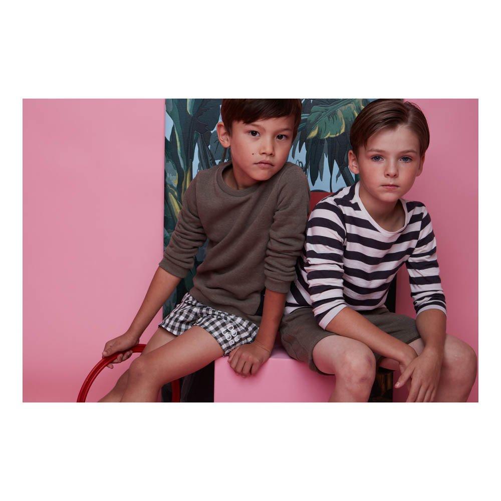 Pantaloncini da bagno Quadretti Nero Douuod Moda Bambino