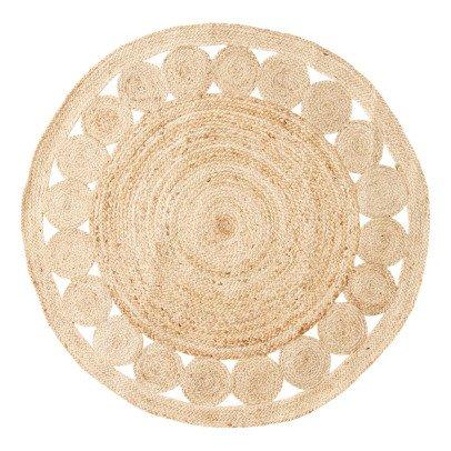 tapis rond crochet ecru naco design adolescent enfant. Black Bedroom Furniture Sets. Home Design Ideas