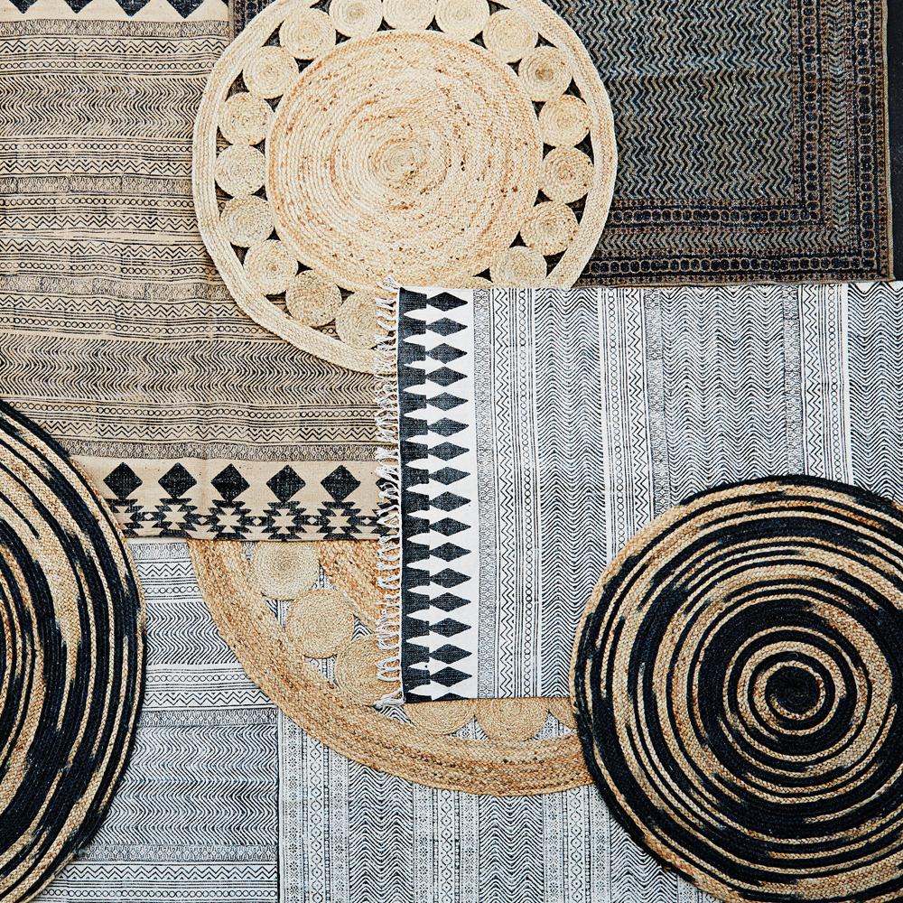 tapis de jute rond naturel madam stoltz design adolescent. Black Bedroom Furniture Sets. Home Design Ideas
