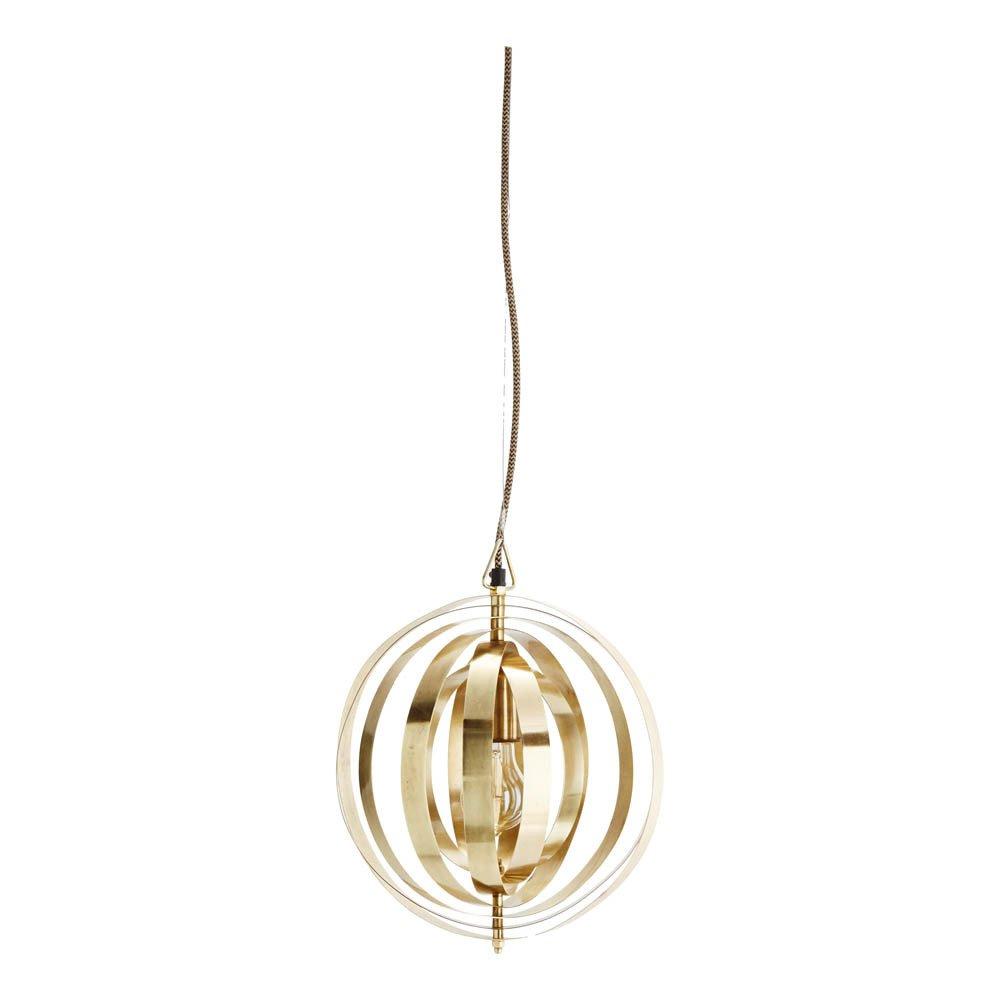 Suspension ronde graphique cuivre madam stoltz design adulte for Suspension ronde design