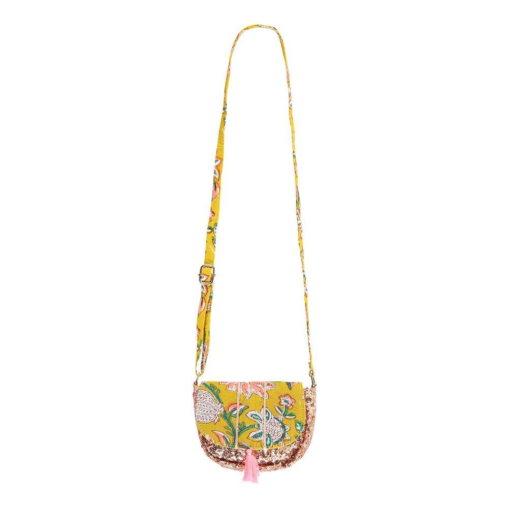 pochette sequins fleurs misha jaune moutarde louise misha mode. Black Bedroom Furniture Sets. Home Design Ideas