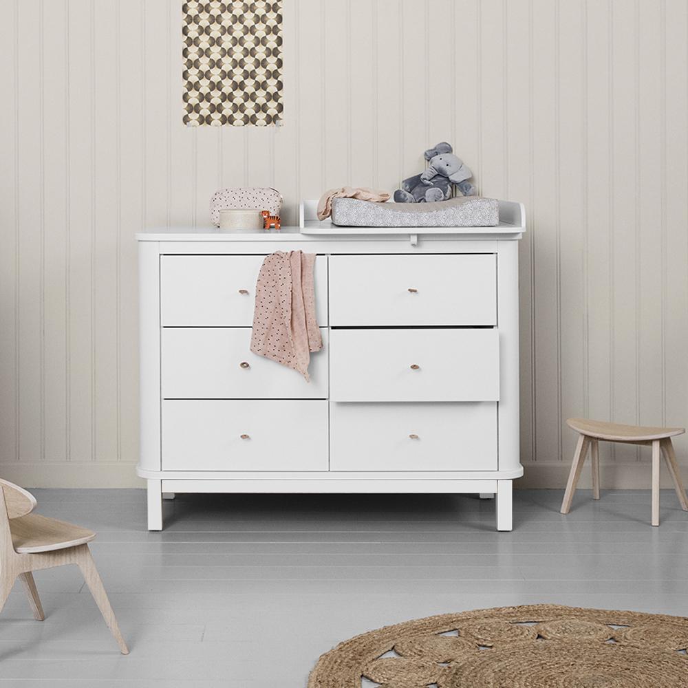 commode langer 6 tiroirs bouleau petit plan langer blanc. Black Bedroom Furniture Sets. Home Design Ideas