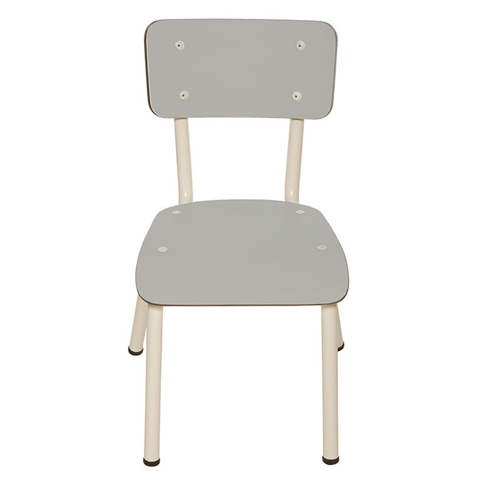 chaise enfant suzie gris les gambettes design enfant. Black Bedroom Furniture Sets. Home Design Ideas