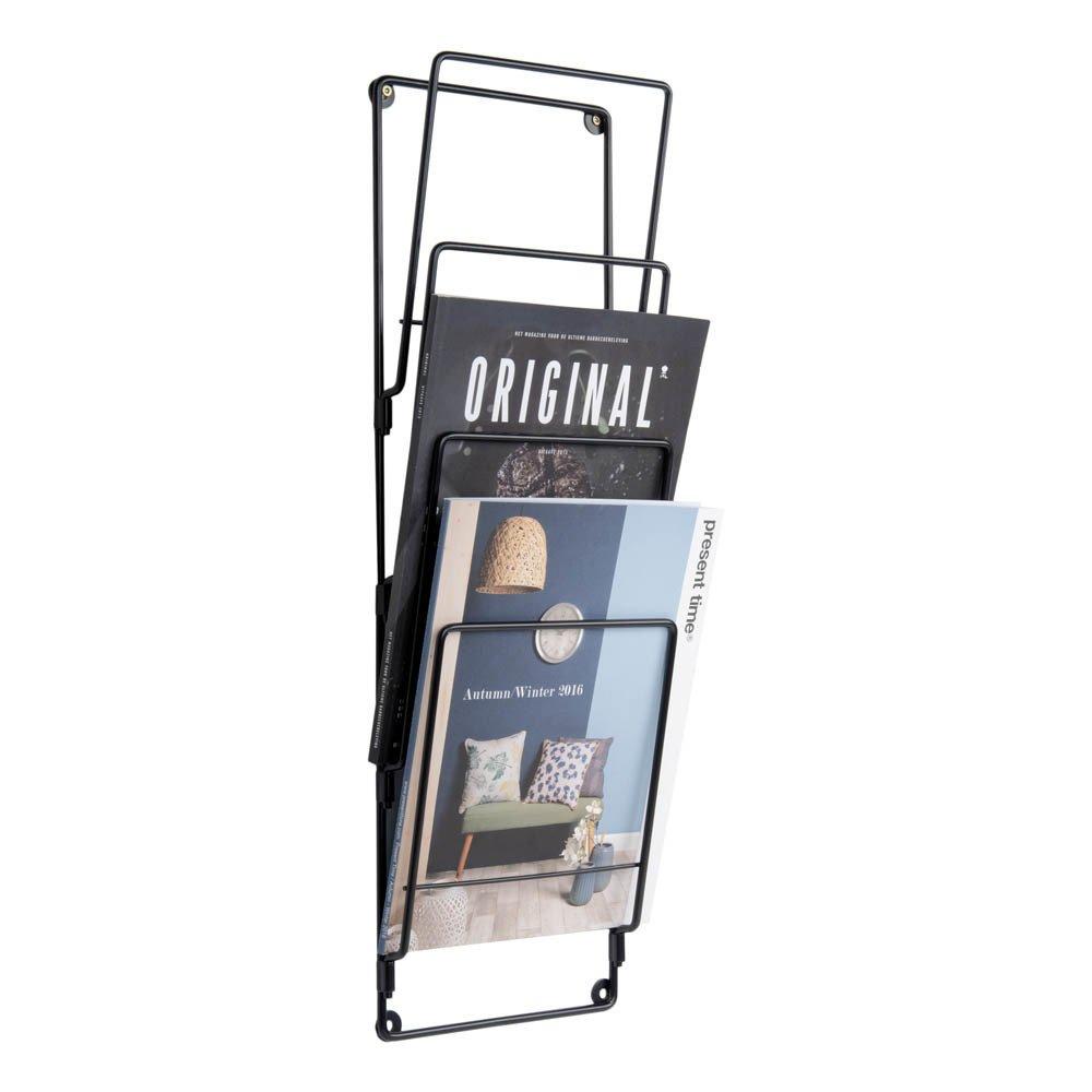 Porte revues en acier noir present time design adolescent for Porte en acier