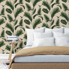 tapete dschungel traditional petroleumblau papermint. Black Bedroom Furniture Sets. Home Design Ideas