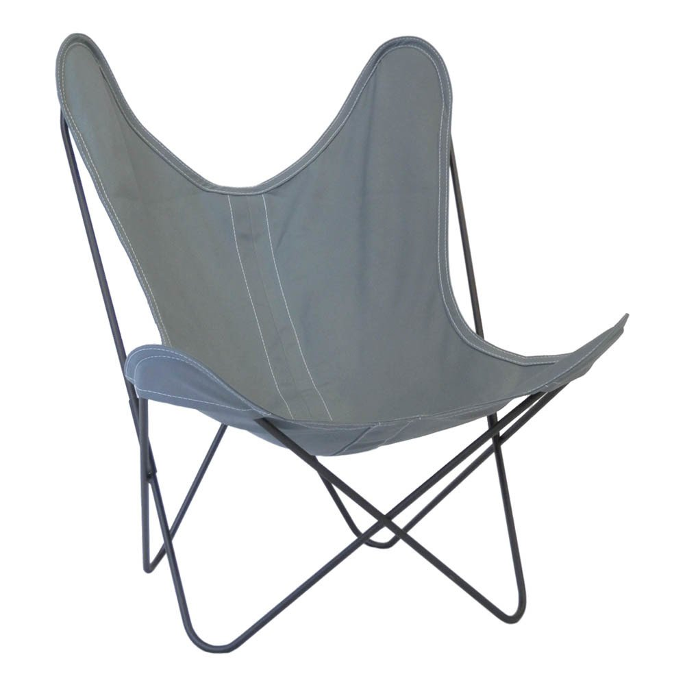 fauteuil aa en acier thermolaqu housse outdoor lavable gris. Black Bedroom Furniture Sets. Home Design Ideas