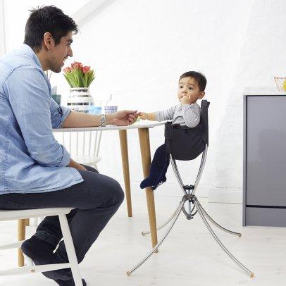 chaise haute transformable marcel laqu combelle design b b. Black Bedroom Furniture Sets. Home Design Ideas
