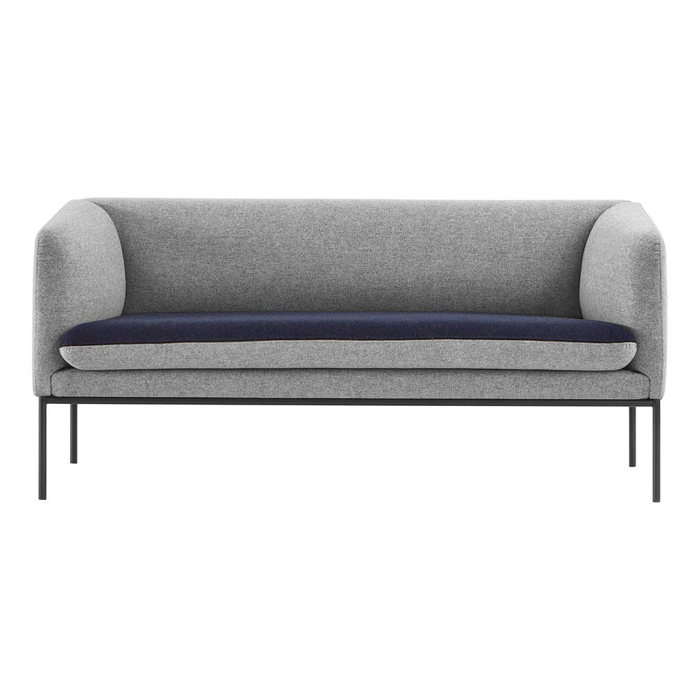 Canap 2 places bicolore en laine bleu ferm living design adulte - Canape bicolore design ...
