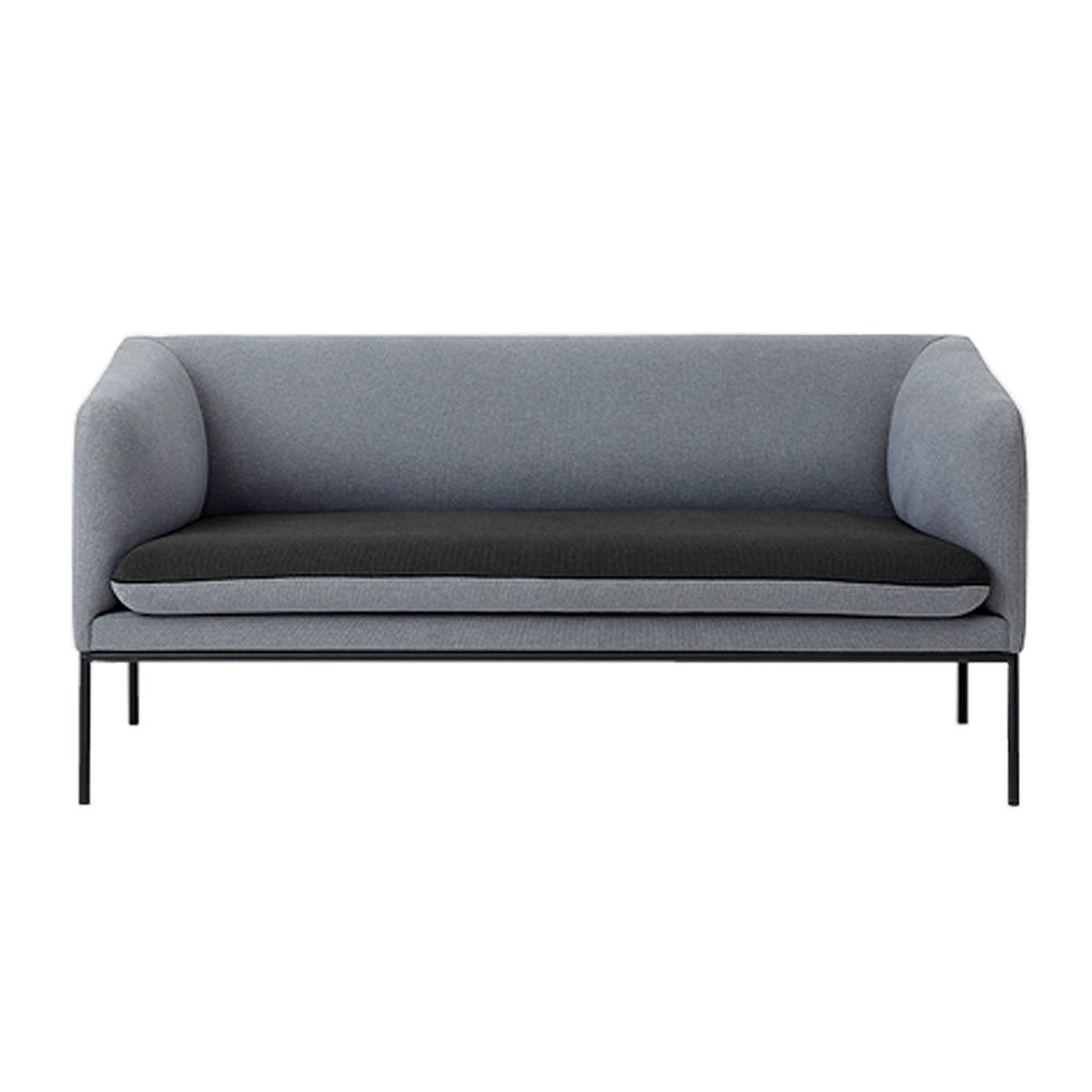 Canap 2 places bicolore en coton gris anthracite ferm living - Taille canape 2 places ...