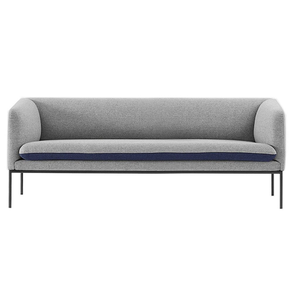 Canap 3 places bicolore en laine bleu ferm living design adulte le fait main - Canape bicolore design ...