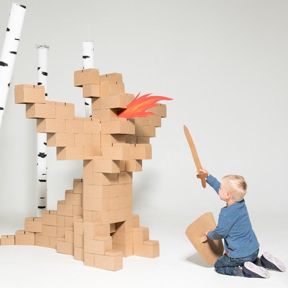 jeu de construction en carton set de 100 blocs naturel gigi. Black Bedroom Furniture Sets. Home Design Ideas