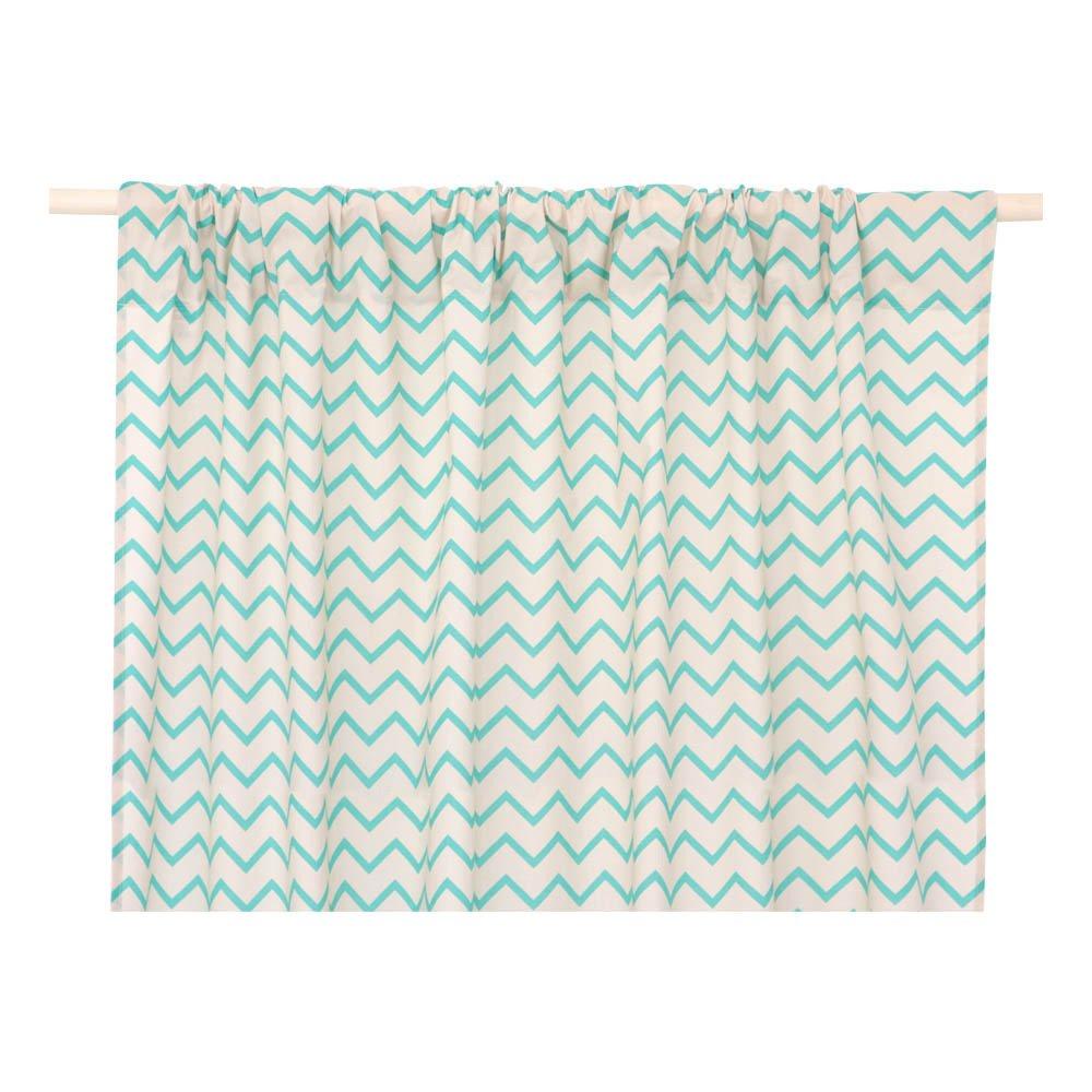 rideau en popeline de coton zig zag biarritz 140x280 cm vert. Black Bedroom Furniture Sets. Home Design Ideas