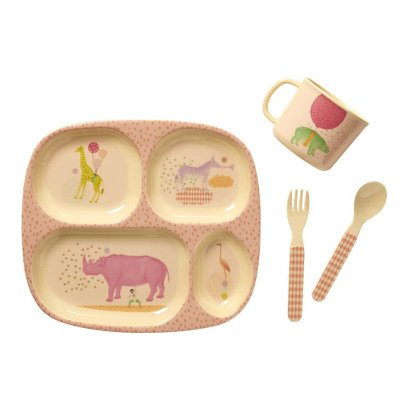 Cesta de almacenamiento natural rice design infantil for Vajilla animales
