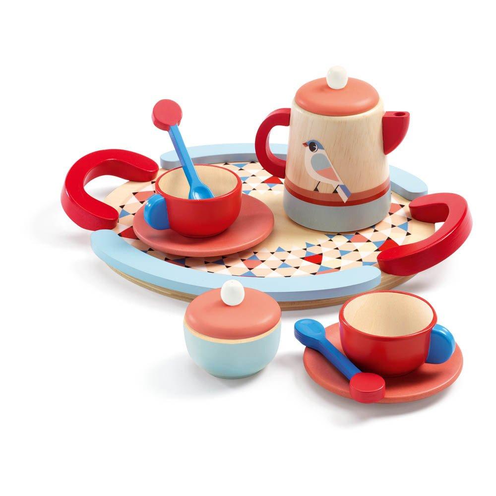 Dînette pour le thé en bois Multicolore Djeco Jouet et Loisir