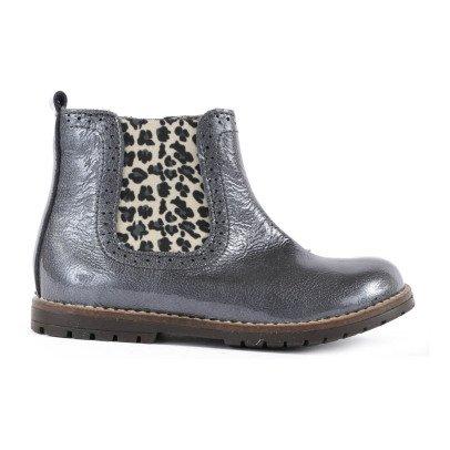 low leder boots halley gef ttert braun diggers schuh teenager. Black Bedroom Furniture Sets. Home Design Ideas