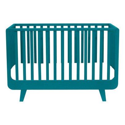 Cuna barras verde agua flexa play design beb for Cama 60x120