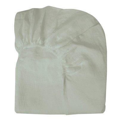 Drap housse lin chin chambray anthracite communaut de biens for Drap housse 160x190
