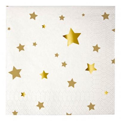 Serviettes en papier étoiles - Lot de 20