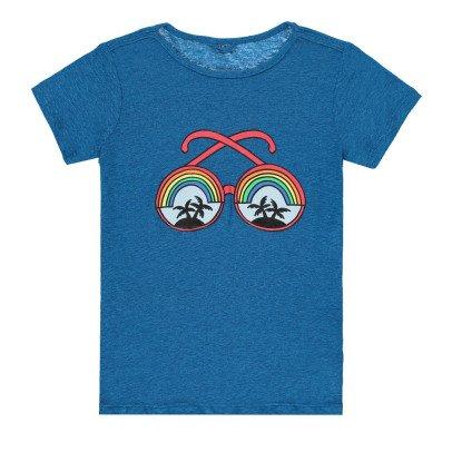 T-shirt Occhiali Azzurra