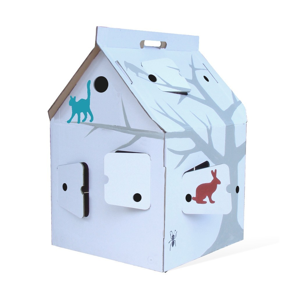 Cardboard House With Patterns Studio Roof Toys And Hobbies