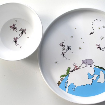 Smiling Planet Fly fairies bowl White-listing
