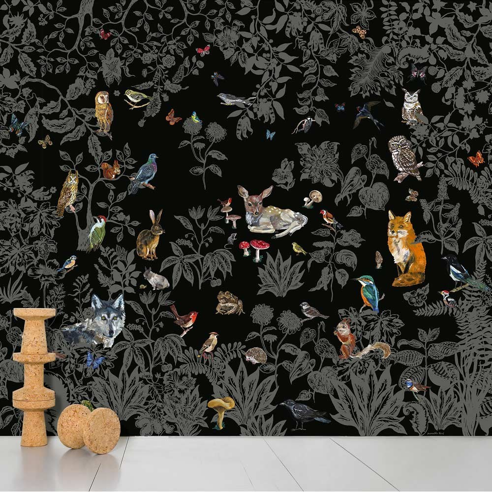papier peint wild noir domestic design enfant. Black Bedroom Furniture Sets. Home Design Ideas