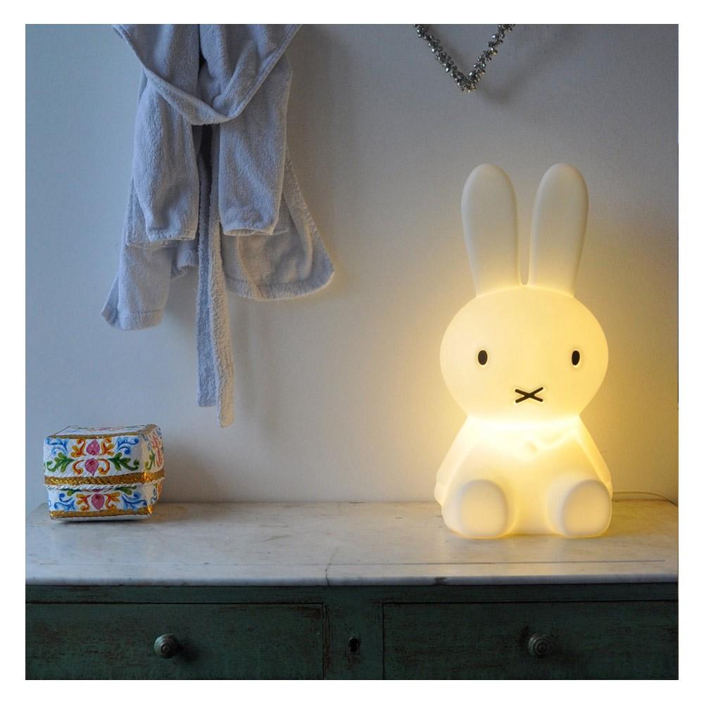 Lampe Veilleuse Lapin Miffy 100+ [ veilleuse lapin egmont ] | lampe lapin rose clair