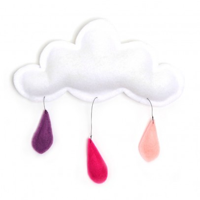 The Butter Flying Cloud mobile rain of color peach/pink/lavender-listing