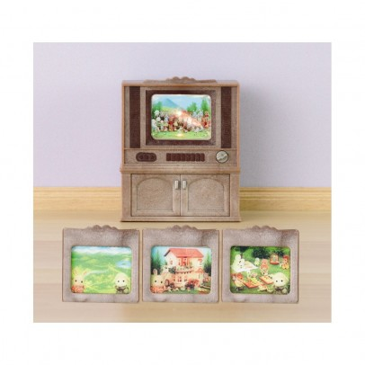 Sylvanian Colour television furniture set-listing