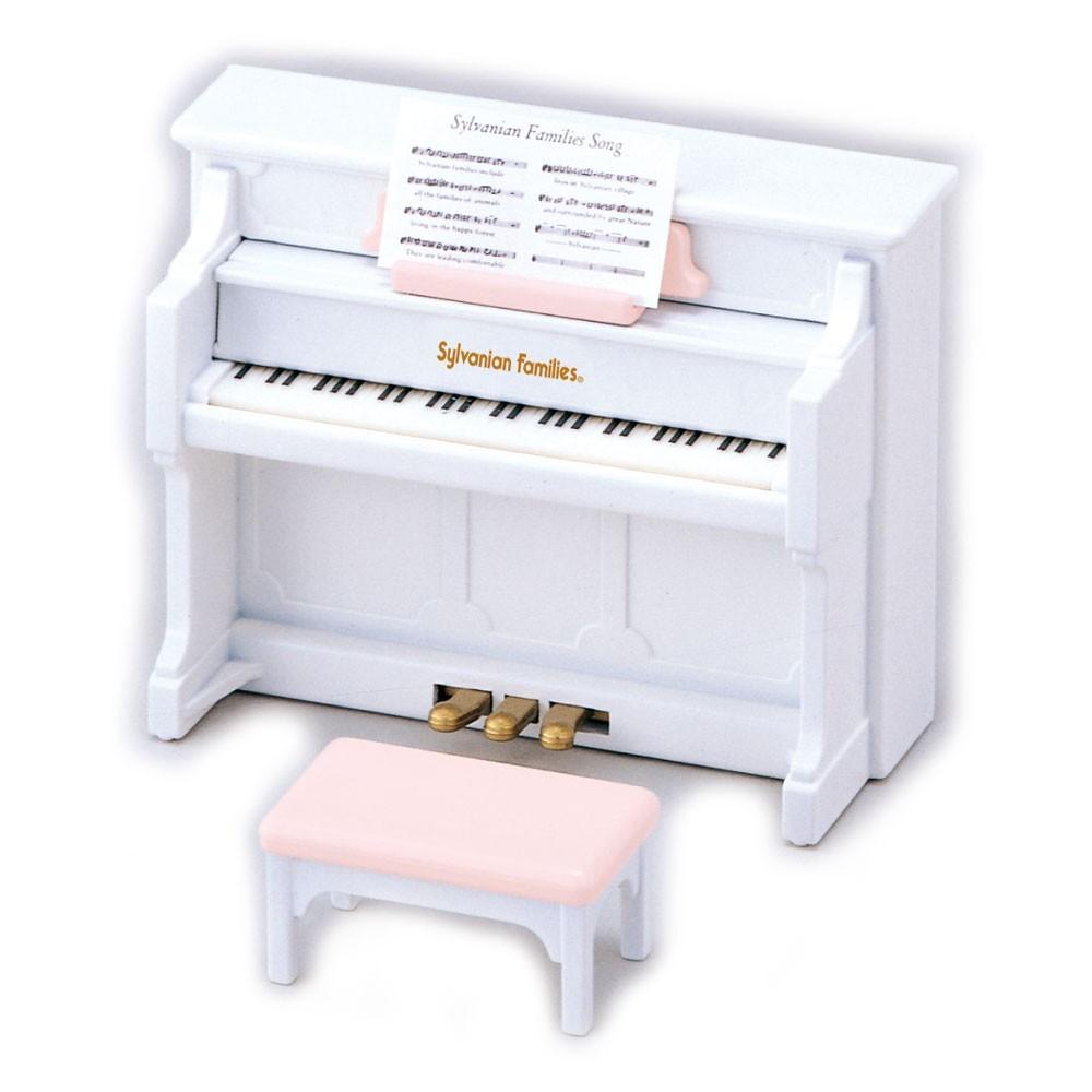 set piano blanc sylvanian jouet et loisir enfant. Black Bedroom Furniture Sets. Home Design Ideas