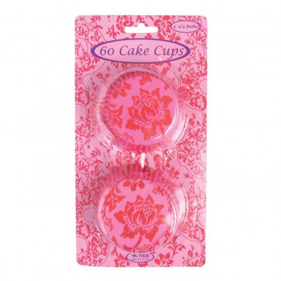Rice Set de 60 habillages cupcake - Fuschia et rouge-listing