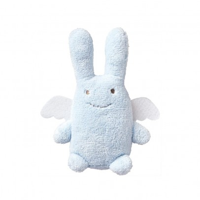 Trousselier Sky blue Angel Bunny Rattle-listing