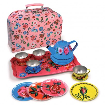 Vilac Flower tea set in case by Nathalie Lété-listing