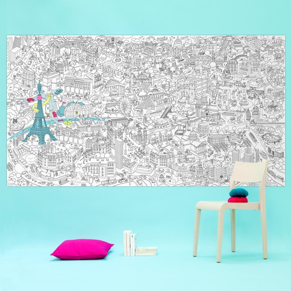 Paris Giant Colouring Poster Omy Toys and Hobbies Children