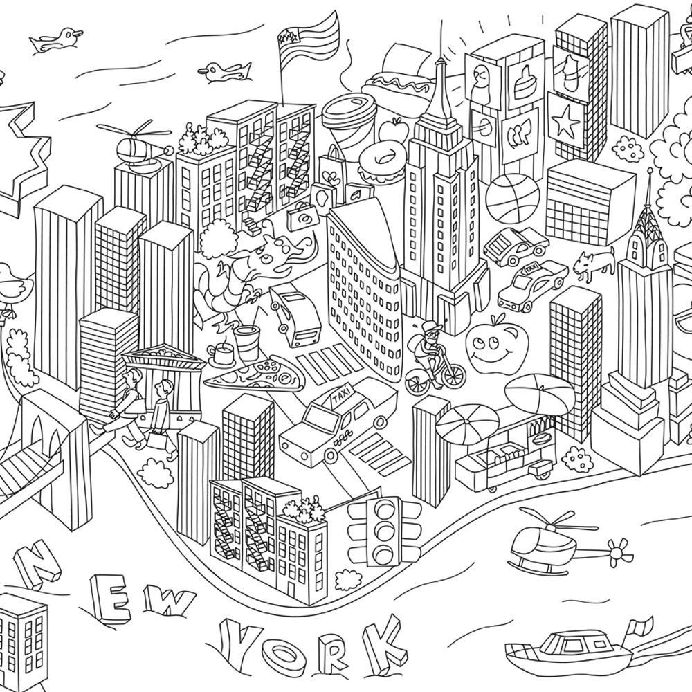 Poster gigante Paris para colorear Omy Juguetes y Hobby Infantil