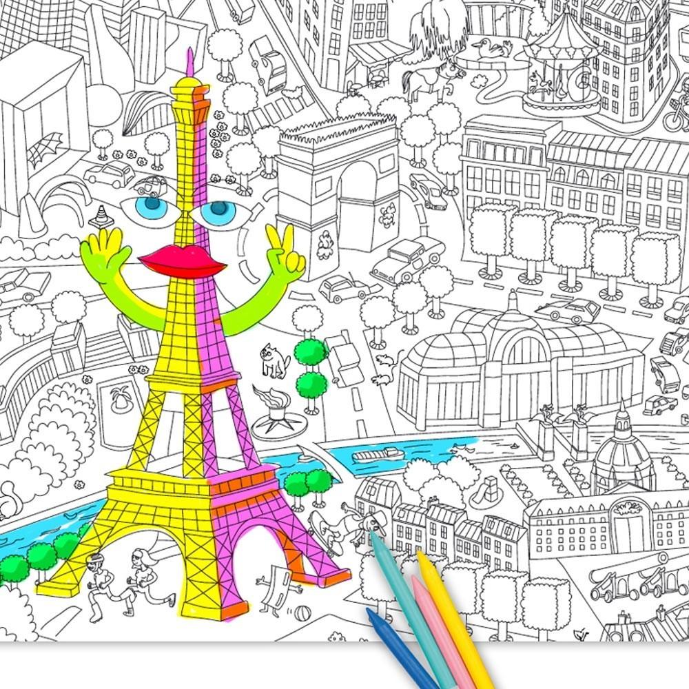 Ausmalbilder Für 11 Jährige Mädchen : Riesen Ausmalbild Paris Omy Spiele Und Freizeit Kind