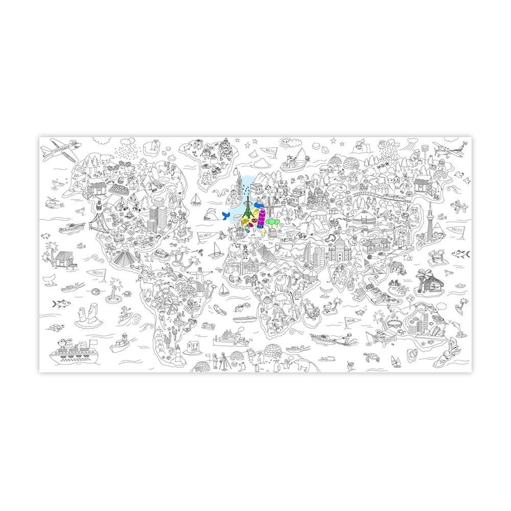 Riesen Ausmalbild Paris Omy Spiele und Freizeit Kind