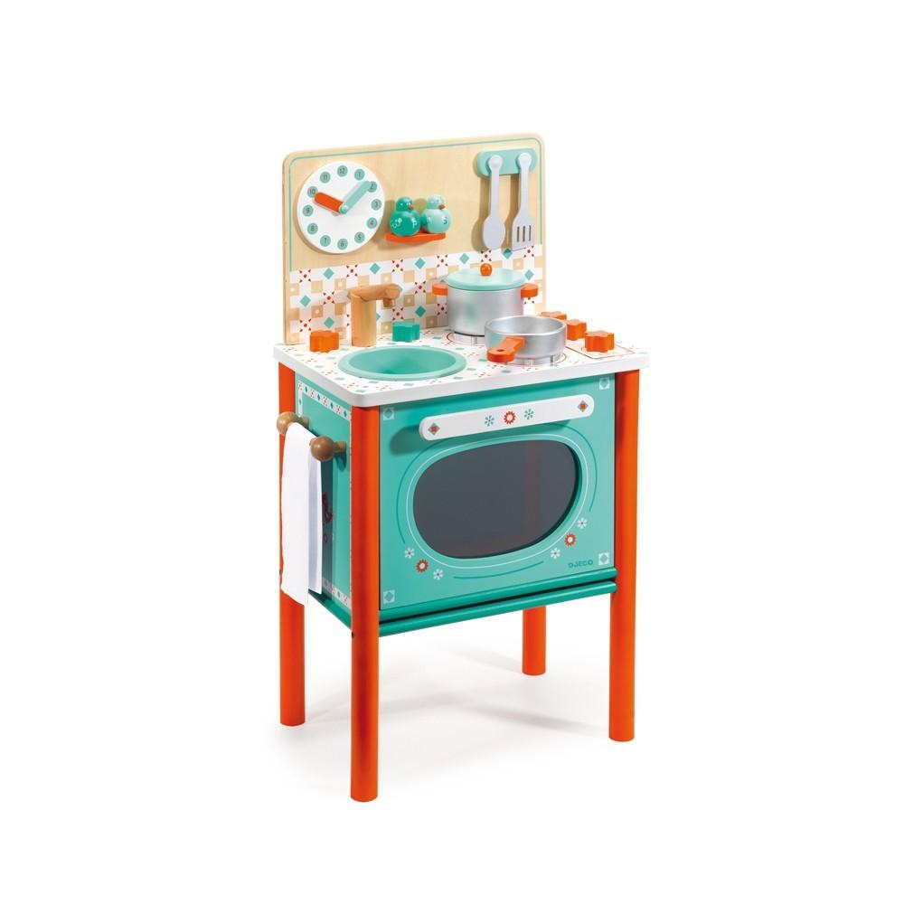 la cuisini re en bois multicolore djeco jouet et loisir enfant. Black Bedroom Furniture Sets. Home Design Ideas