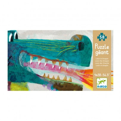 Djeco Giant Puzzle Leon the dragon-listing