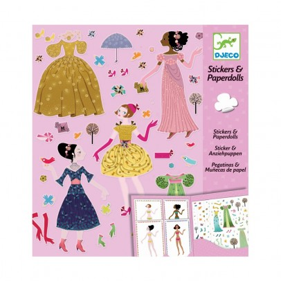 Djeco 4 seasons dress - Stickers and paper dolls-listing