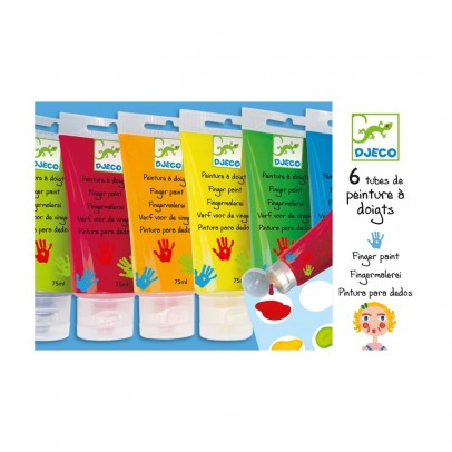 Djeco 6 finger paint's tube-listing