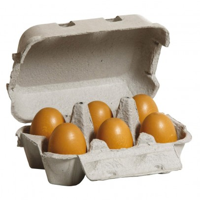 Erzi Box of 6 brown eggs-listing
