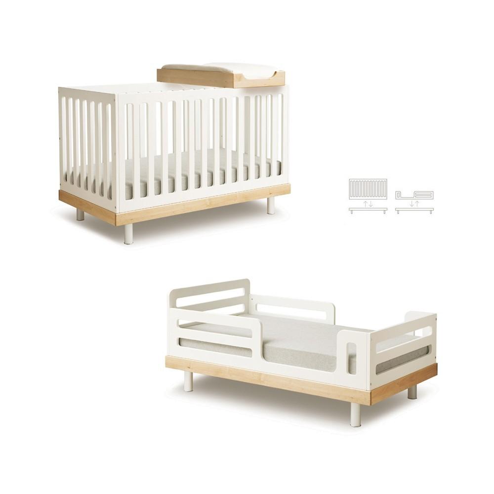 mitwachsendes bett 0 6 jahre birke oeuf nyc design baby kind. Black Bedroom Furniture Sets. Home Design Ideas