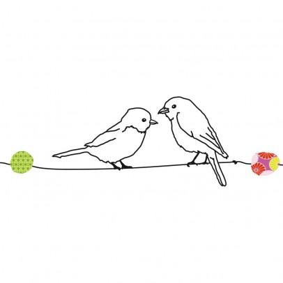 Sticker fenicotteri rosa mimi 39 lou design bambino for Stickers per muri