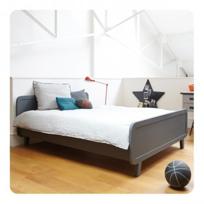 Laurette Round Bed 140x200cm - Dark Grey-listing