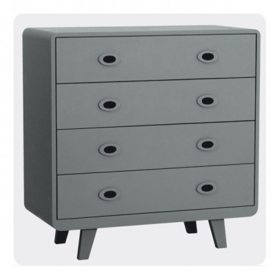 Laurette You and Me Chest of Drawers - Dark Grey-listing