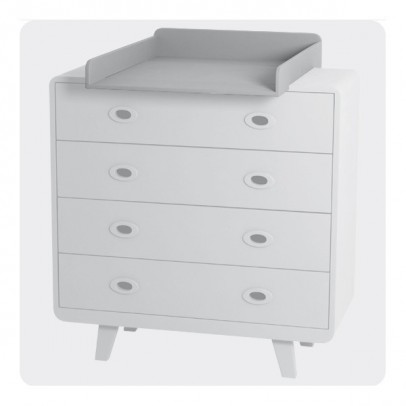 Laurette You and Me Changing Table - Light Grey-listing